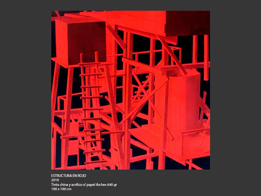 Estructura en rojo